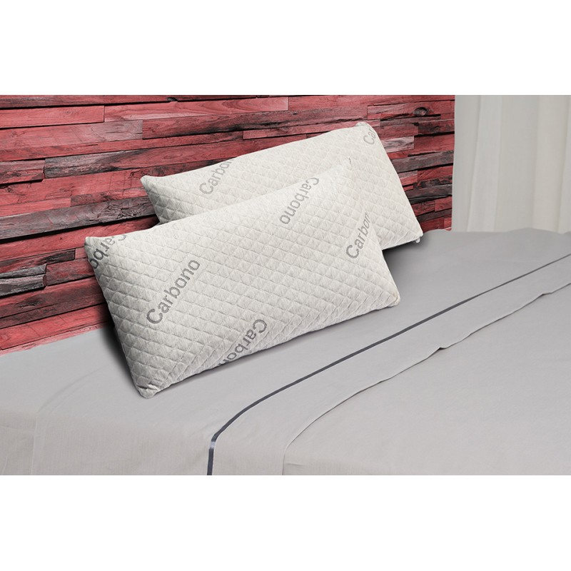 Pack 2 Almohadas Visco Luxury Carbono