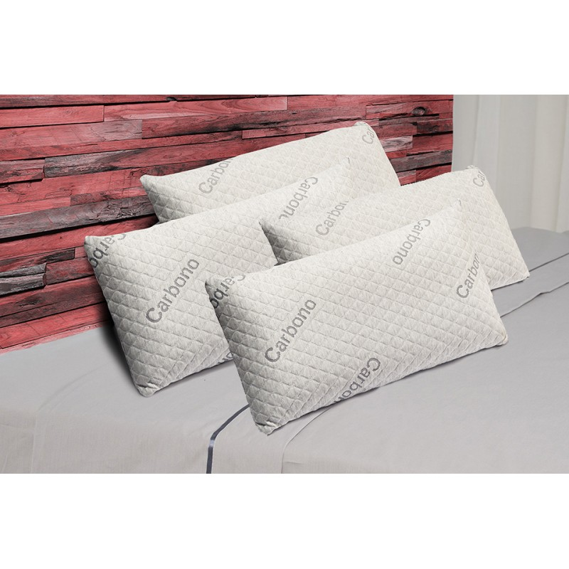 Pack 4 Almohadas Visco Luxury Carbono