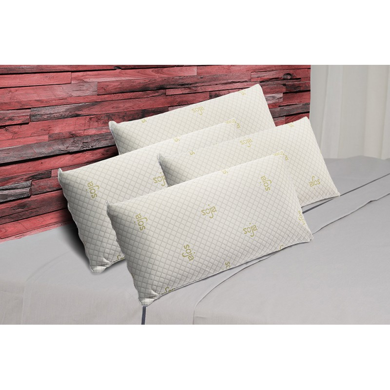 Pack 4 Almohadas Visco Luxury Soja